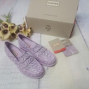 NWT Hunter Refine Coral Print Penny Loafer